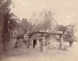 General view of a small ruined Jain temple in the Fort, Hangal